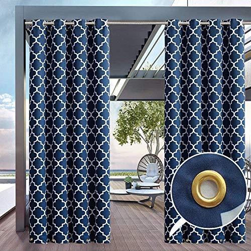 HGMart Outdoor-Vorhang für Terrasse, 50 x 63 cm, UV-Strahlschutz, wasserfest, lichtbeständig und schimmelresistent, Ösen nach oben und unten 50
