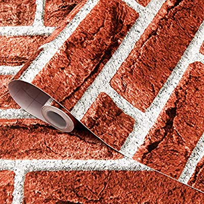 Amazon - Save 50%: bofeifs Brick Wallpaper Peel and Stick Decorative Paper Self-Adhesive Sticker for H…