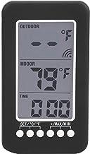 Annjom Medidor de Temperatura, Reloj termómetro, Pantalla inalámbrica de 4 Pulgadas para Oficina en casa con transmisor Exterior con Receptor Interior