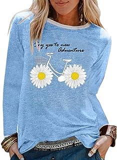 Femme Vetement Chic Mode ete Haut Femme Grande Taille Top Femme Soiree t-Shirt Femme Pas Cher Manche Longue Pull Femme Hiv...
