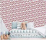 N/X Dibujos Animados Fresa Mural Dormitorio Sala de Estar Papel Tapiz Transparente Fondo de Pantalla @ 250 * 175 cm