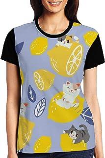Moths Butterflies Seamless Womens Casual Crewneck T-Shirt