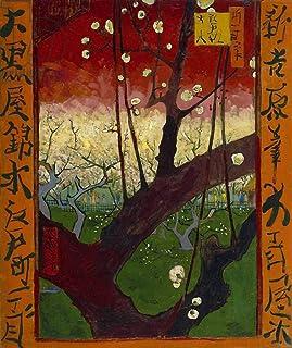 """Kunst für Alle Reproduction/Poster: Vincent Van Gogh Japonaiserie Flowering Plum Orchard Paris 1887"""" - Affiche, Reproducti..."""