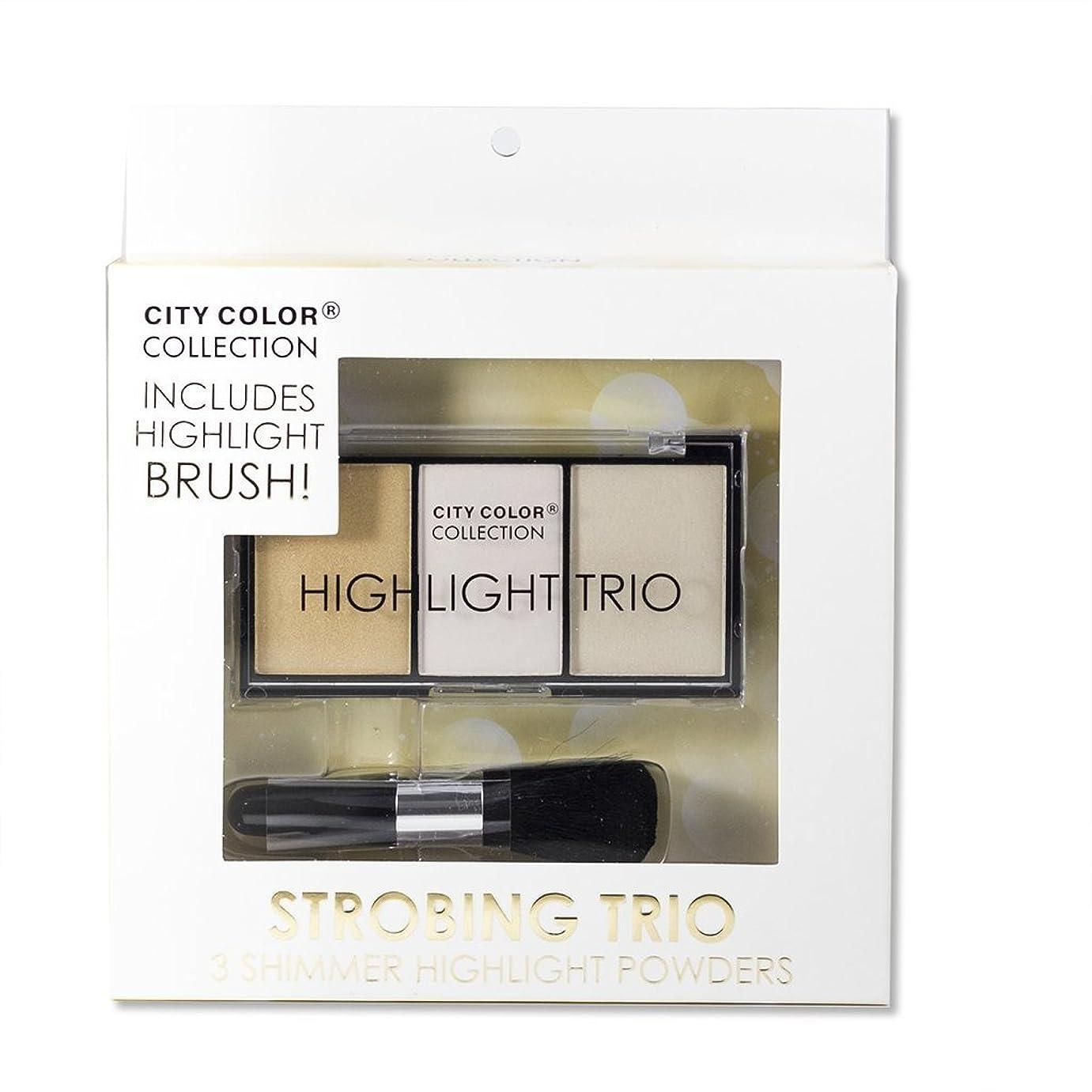 アドバンテージ船形父方のCITY COLOR Collection Highlight Strobing Trio Powders Set (並行輸入品)