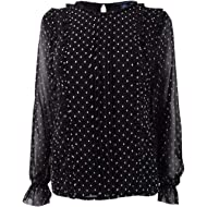 Tommy Hilfiger Women's Dot-Print Ruffled Top