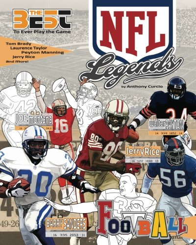 NFL Legends: The Ultimate Coloring, Activity and Stats Football Book for Adults and Kids (35 BEST BIOGRAPHY, Band 2)