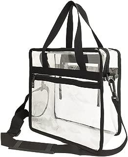 Clear zipper tote bag with detachable shoulder strap