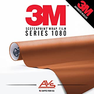 3M Scotchprint Series 1080 Matte Copper Metallic Vinyl Car Wrap Film Sheet Roll - 3M1080 - 30ft x 5ft (150 sq/ft) (360