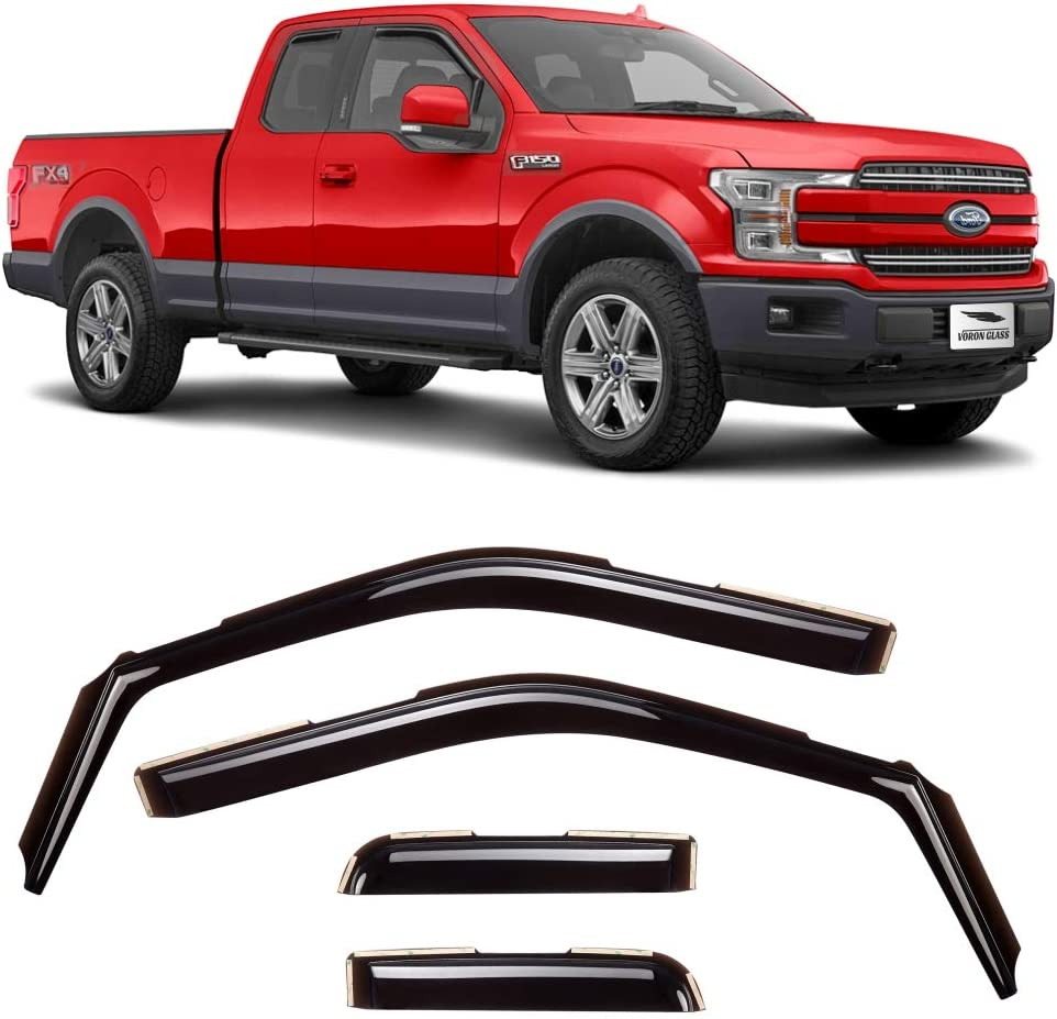 Voron Glass in-Channel Ranking TOP11 Extra Durable Limited time sale Rain Guards F150 2 Ford for