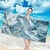 Haifei - Toalla de playa de viaje de microfibra, secado rápido para nadadores, toallas de playa antiarena para mujeres, hombres y niñas