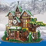 PEXL Haus Bausteine Bausatz, Ideen Baumhaus Modular Architektur Modell, 2466 Klemmbausteine Kompatibel mit Lego