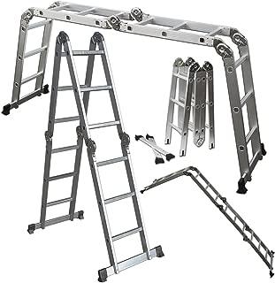 OxGord Dual Height Aluminum Folding Ladder, 330 lb. Capacity