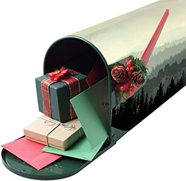 Forest The Panorama of A Valley and Mystic Forest Mailbox Stickers style5 52.8x64.8cm