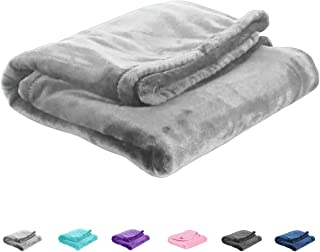 Uozzi Bedding All-Season Gray Flannel Fleece Baby Blanket for Girls & Boys - Ultra Soft Plush Thin Kids Toddler Blanket for Crib, Pram Strollers, Sofa, 100% Microfiber Polyester 27