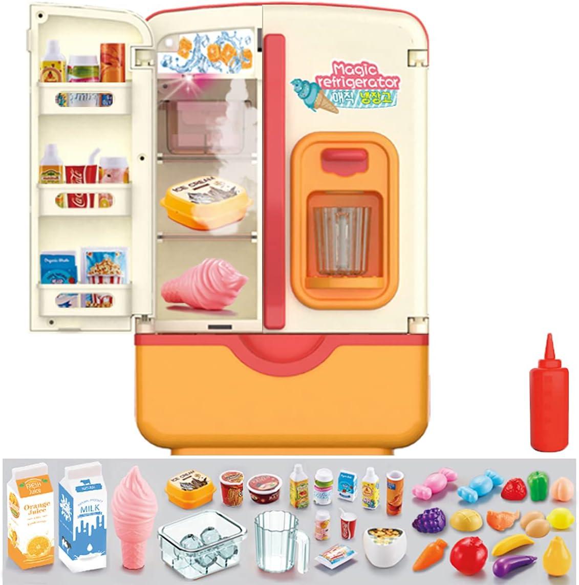 Kitchen Toys Fridge Refrigerator latest with Ice Play Super-cheap Pretend Dispenser