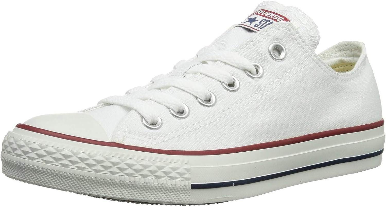 Converse Unisex Chuck Taylor All Star Low Top Top Top skor (44 -45 M EU  12.5 B (M) US kvinnor  10.5 D (M) Amerikanska M än, Optisk vit)  förstklassig kvalitet