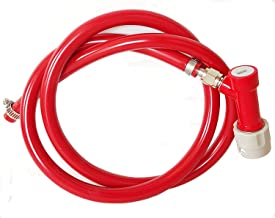 3 Foot Red Gas/Air Hose with CMBecker Pin Lock Disconnect, 5/16 Inch ID by Kegconnection