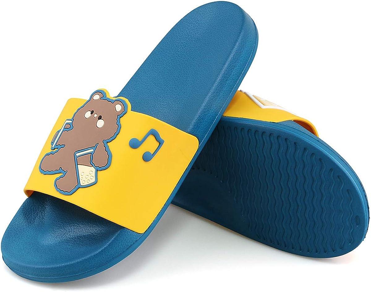 WYSFLY Slip On Slippers for Women Men Summer Non-Slip Sliders Open Toe Beach Pool Shoes
