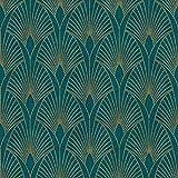 Papier peint Art déco 374275 | Papier peint bleu canard et or | Papier peint chic | Papier peint salon & chambre | Papier peint glamour foncé