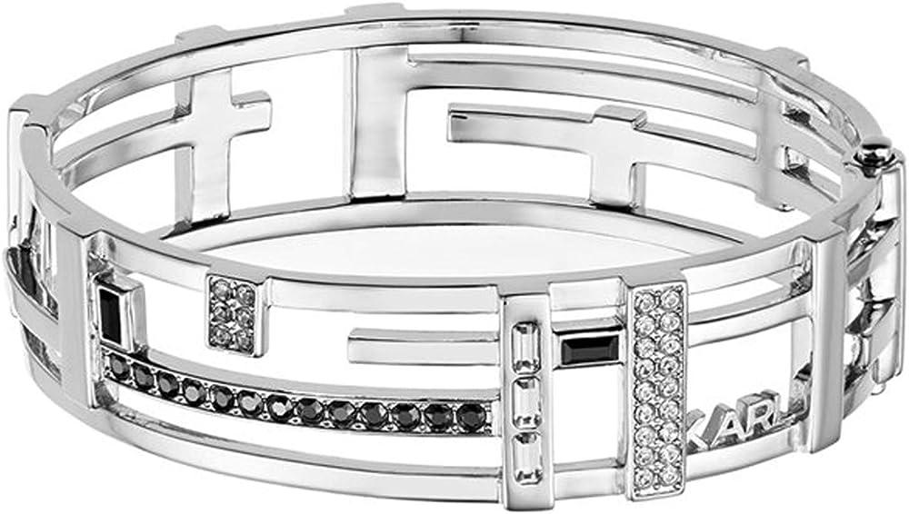 Karl lagerfeld, bracciale per donna,in ottone e cristalli 5512163