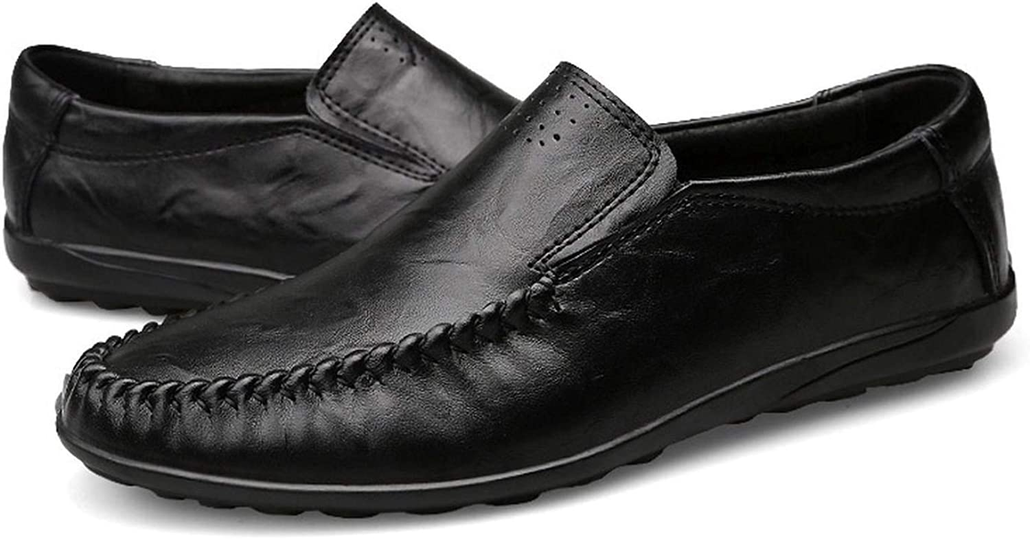 Enjoy-Sexy Genuine Leather Mens Casual shoes Cowhide Driving Moccasins Slip On Loafers Men Flat shoes Size 36-47