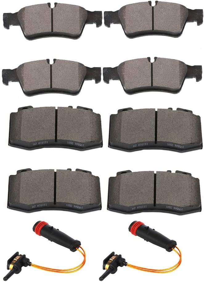 SCITOO Large discharge sale Brake Pads and Sensor Front Ranking TOP18 Kits Ceramic Rear