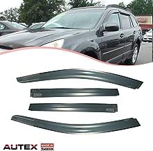 AUTEX Tape on Window Visor Compatible with Subaru Outback 2010 2011 2012 2013 2014 Side Window Wind Deflector Sun Rain Guard