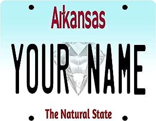 BleuReign(TM) Personalized Custom Name Arkansas License Plate State Square Refrigerator Fridge Magnet