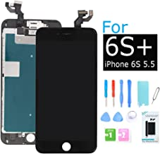 Ibaye Screen Replacement Compatible iPhone 6s Plus Black LCD Touch Digitizer Full Assembly with 3D Touch Panel,Front Camera,Ear Speaker, Repair Tools