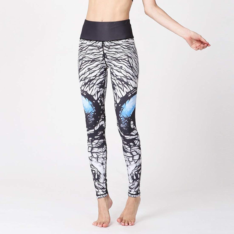 Huayue Yoga Pants Women's Printed Elastic Slimming Fitness Sloshed Pants