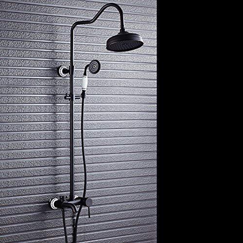 sdkky de Negro Bronce ducha Set de ducha Vintage europeos Cobre ducha ducha Grifos, la corrosión Obstrucción Justic...