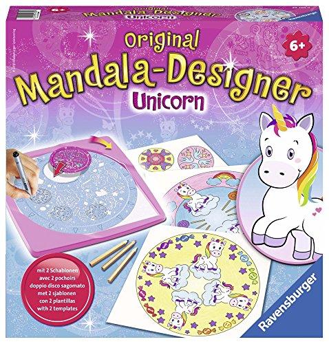 Ravensburger Mandala Designer Unicorn 29703, Zeichnen lernen für Kinder ab 6 Jahren, Kreatives Zeichen-Set mit Mandala-Schablonen für farbenfrohe Mandalas