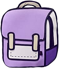 Xugq66 3D Drawing Bag Comic Vintage Backpack for College Girls Laptop Bag