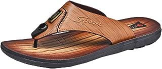 Men's Flip-Flops, 2019 Mens Leather Flip-Flops Fanning Sandals Casual Summer Slippers Outdoor Beach/Pool