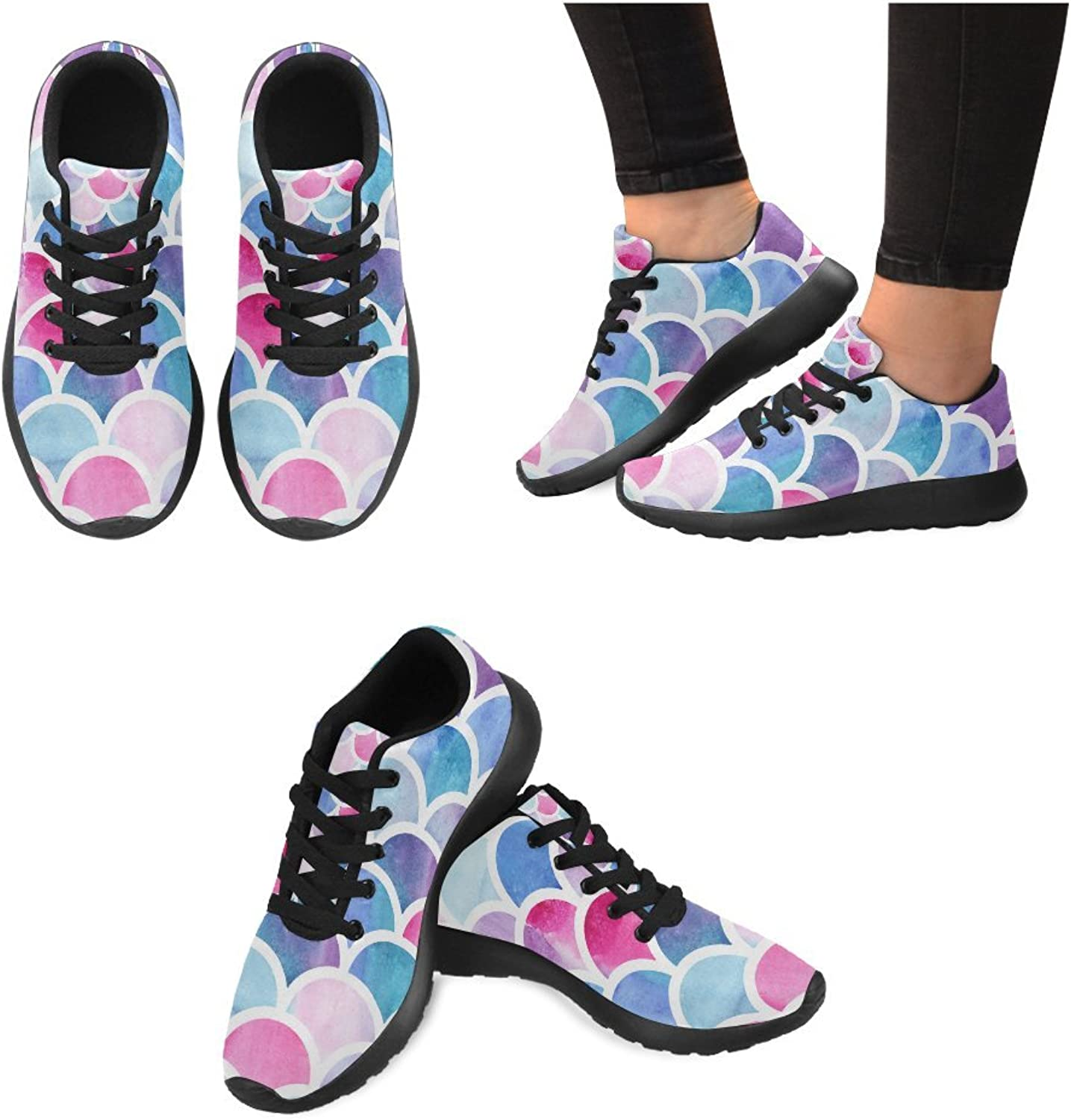 InterestPrint Women's Jogging Running shoes Classic Canvas Sneakers Music Notes