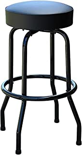 Richardson Seating 0-1950BLKBLK Swivel bar Stool with Frame/Seat, 30