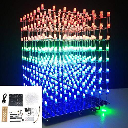 U - verbeterde versie DIY WiFi APP Cube 3D Light Kit rood blauw groen LED MP3 muziek spectrum
