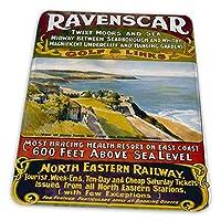 マウスパッド ゲーミングマウスパッド-北東鉄道レーベンスカーゴルフリンクヴィンテージ旅行滑り止め デスクマット 水洗い 25x30cm
