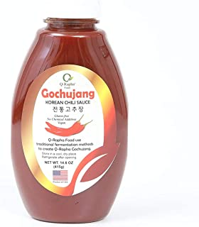 Q-Rapha Classic Korean Gochujang - GMO and Gluten free, Vegan - 14.6oz (Classic)
