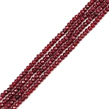 Top Quality Natural Garnet Red Quartz Gemstone 4mm Rondelle Spacer Stone Beads 14 Inch for Jewelry Craft Making GH1R-3