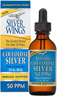 Natural Path Silver Wings Colloidal Silver 50 PPM, 2oz Dropper