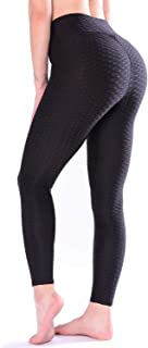 TFO Women's High Waist Yoga Pants Slimming Tummy Control Leggings Sports Workout Running Butt Lift Tights Black