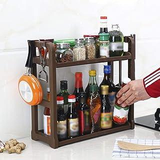 2 Niveaux Organisateur D'Armoires De Cuisine Organisateur D'Épices Support Support Permanent Cuisine Comptoir De Rangement...