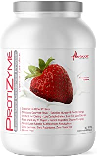 Metabolic Nutrition | Protizyme | 100% Whey Protein Powder | High Protein, Low Carb, Low Fat with Digestive...