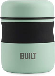 BUILT Double Wall Stainless Steel Vacuum Insulated Reusable Food Storage Jar, 10-Ounce, Mint