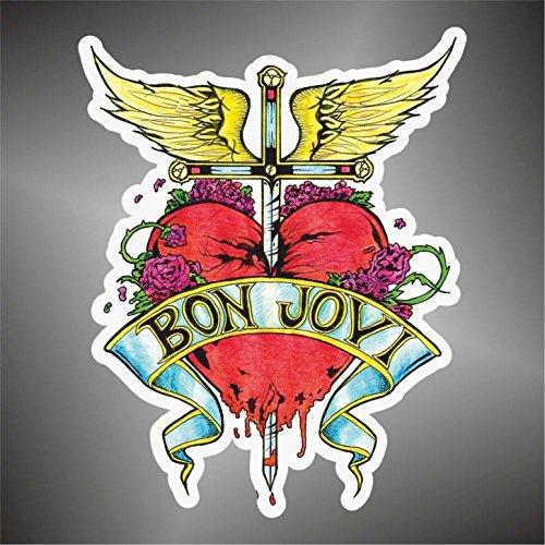 Graphic-lab Aufkleber - Sticker John Bon Jovi hip hop Rap Jazz Hard Rock pop Funk Sticker