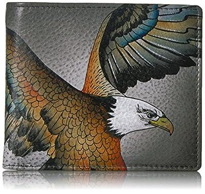 Anuschka Hand Painted RFID Blocking Two-Fold Men's Organizer Wallet | American Eagle