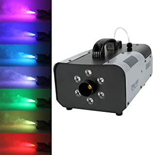 Tengchang 900 Watt Fog Smoke Machine RGB 3in1 6 LED Fogger Night Club Party with Wireless Remote Control