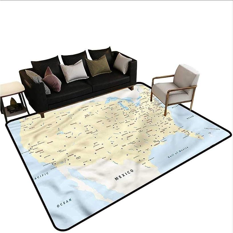 Map,Indoor Super Absorbs Doormat 60