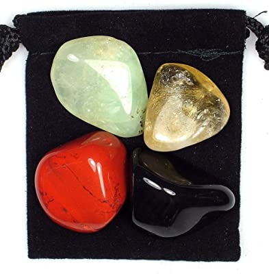 IM AMELIA Blood Disorder Tumbled Crystal Healing || Set = 4 Stones + Pouch +Description Card